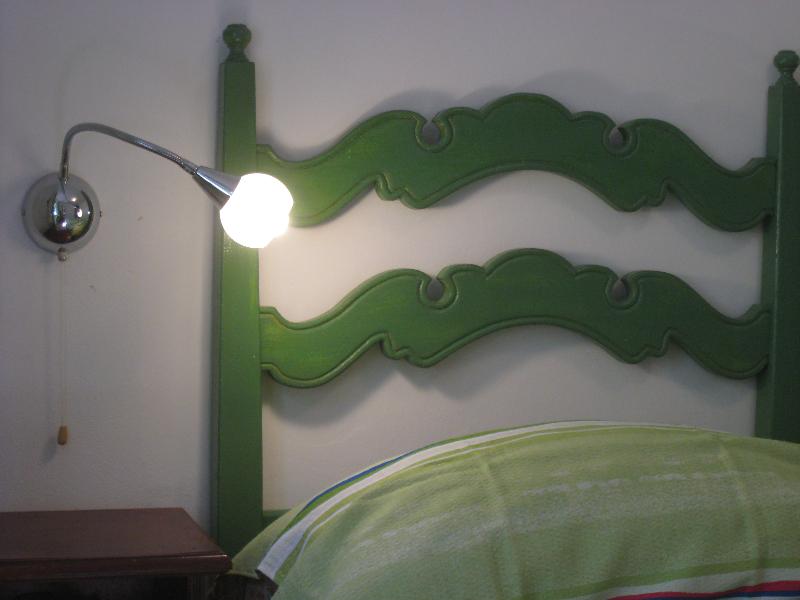 Un dettaglio della camera da letto
