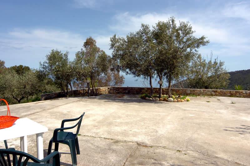 la grande terrazza esterna